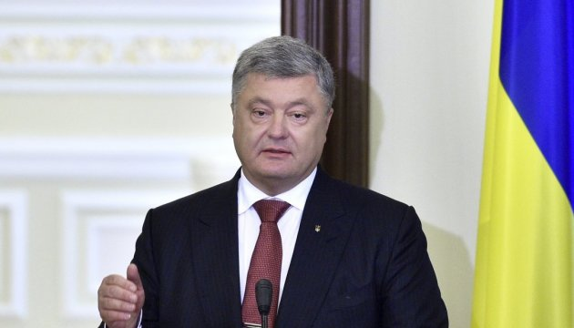 Poroshenko discusses with delegation of French senators situation in Donbas and Crimea