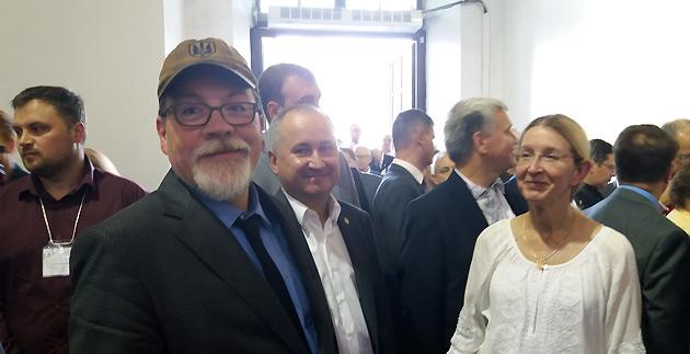 Марко та Уляна Супрун і голова СБУ Василь Грицак. Прийняття в Мистецькому Арсеналі на честь 50-річчя СКУ