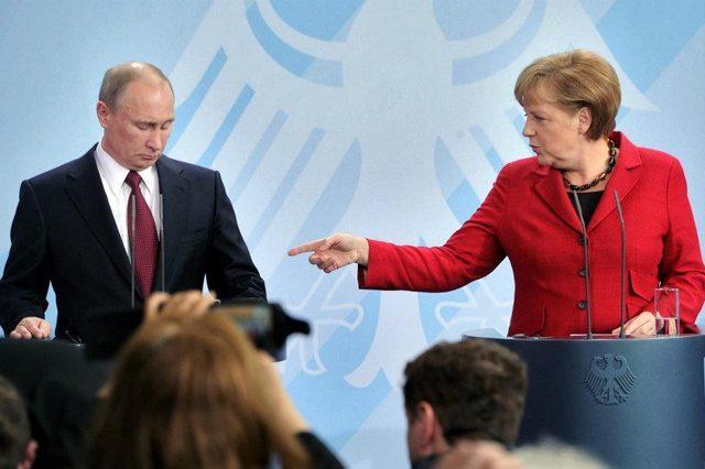 Владимир Путин, Ангела Меркель /  Фото: euroua.com