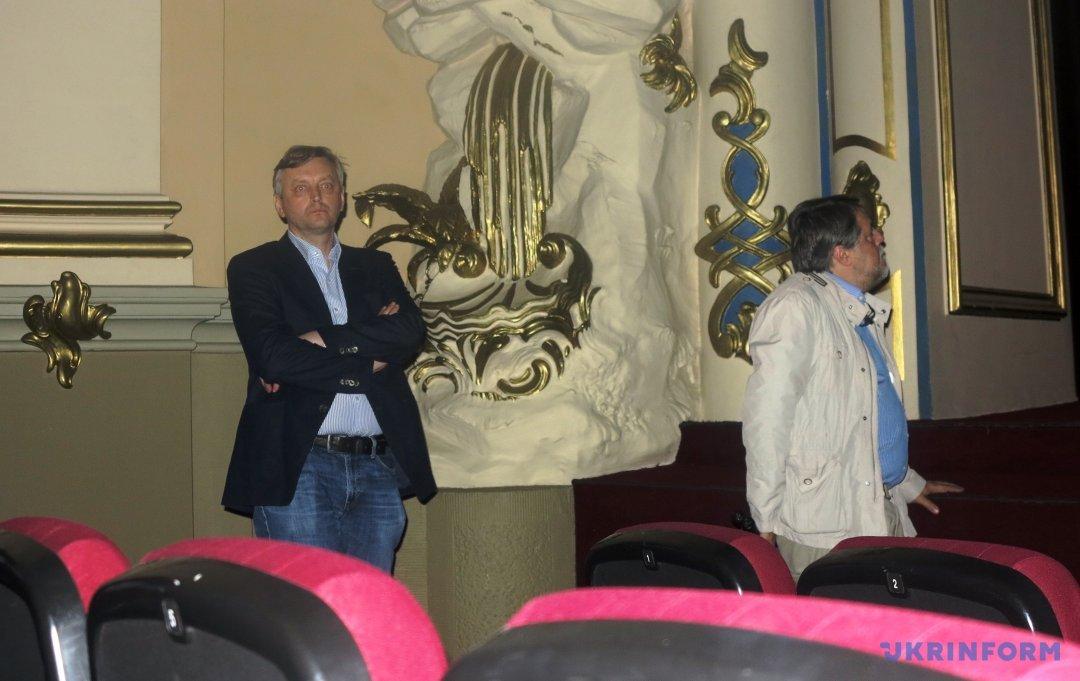 Сергей Лозница и Виталий Манский на показе фильма