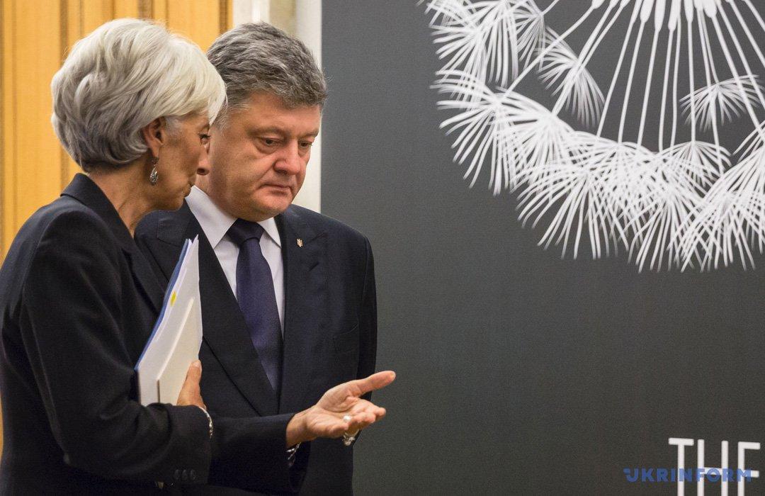 Порошенко и руководитель МВФ договорились опродолжении сотрудничества