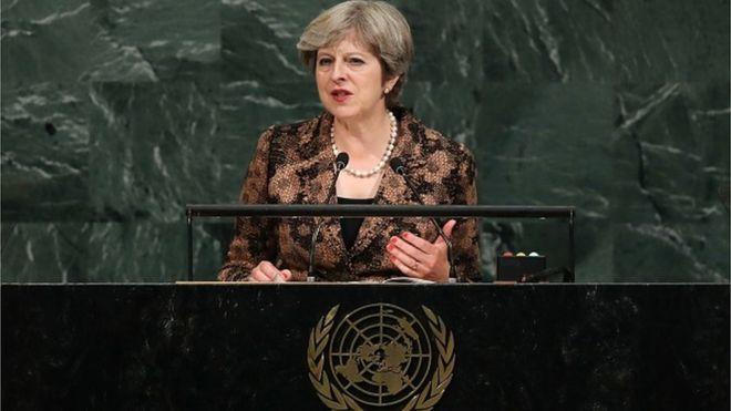 Виступ британського прем'єра Терези Мей на Генасамблеї ООН