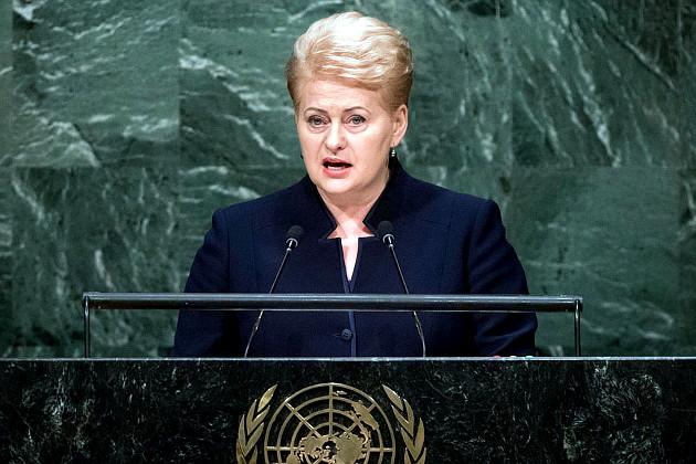 Виступ президента Литви Далі Грібаускайте на Генасамблеї ООН