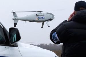 SMM mid-range UAV spots recent impact craters near Luhanske