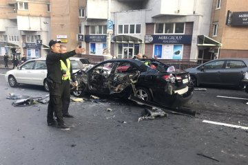 La police a identifié la femme blessée lors de l'explosion d'une voiture dans le centre de Kyiv