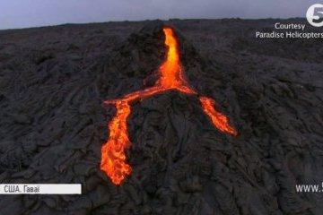 На Гаваях вулкан утворив озеро з лави