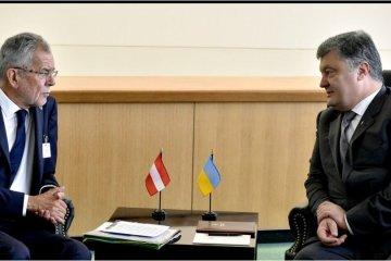 Президент України обговорив ситуацію на Донбасі з президентом Австрії