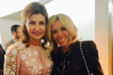 Maryna Poroshenko y Brigitte Macron acuerdan cooperación en el desarrollo de un ambiente de aprendizaje inclusivo