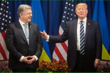 特朗普:与波罗申科的最新会谈取得了重大进展
