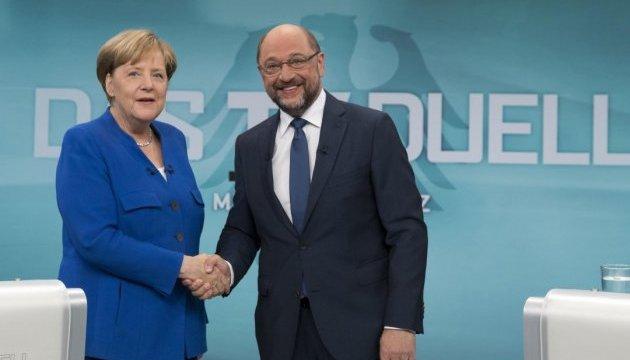 Німецька теледуель за три тижні до виборів