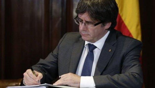 Лідер Каталонії заявив, що все ж оголосить про незалежність регіону