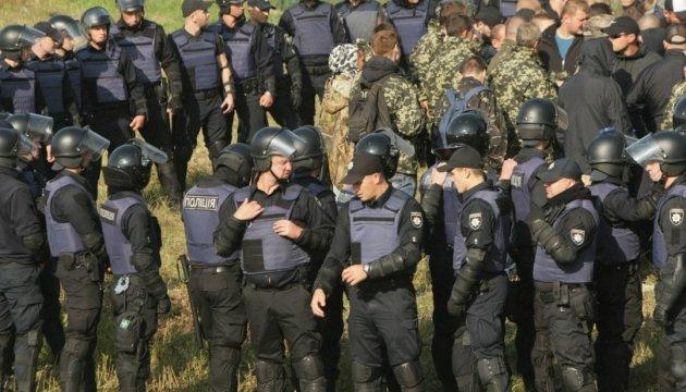 Поліція зупинила колону