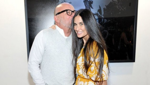 Demi Moore wears embroidered dress from Ukrainian designer. Photo