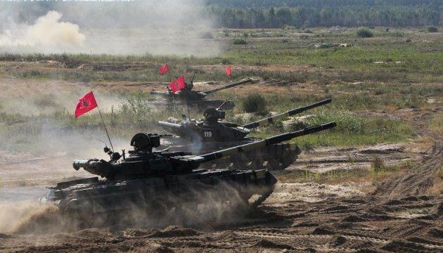 Wettkampf um besten Panzerzug im Gebiet Tschernihiw beendet