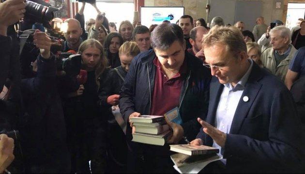 Mikheil Saakachvili a été vu à Lviv au Forum des éditeurs