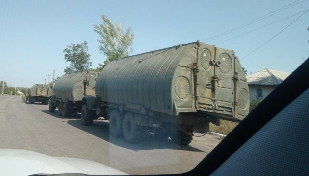 OSCE spots three columns of militant equipment near Luhansk (Photo)