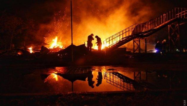 В Одесі згорів корпус дитячого табору, є жертви