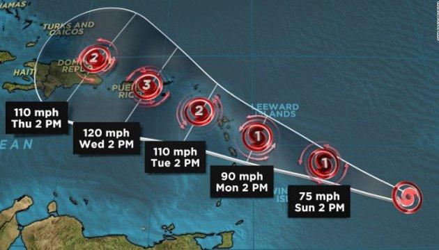 """Над Атлантикою утворився новий тропічний шторм """"Марія"""""""