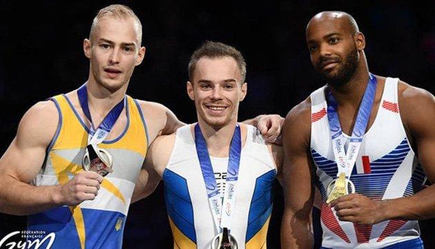 Украинские гимнасты завоевали восемь наград на Кубке мира