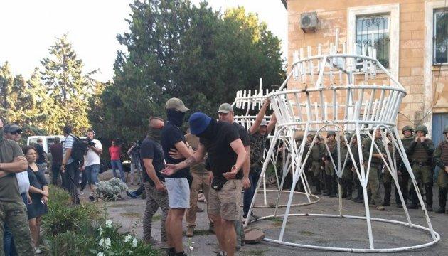 Одеські активісти - консулу РФ: Йдіть геть, ви окупанти в нашій країні!