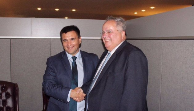 Klimkin discusses with Greek foreign minister Ukraine's peacekeeping initiative