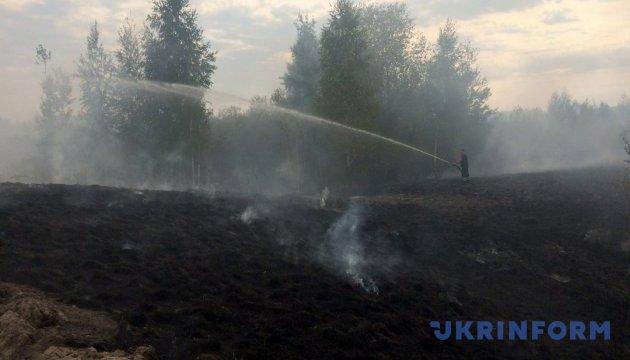На Черкащині горить ще 49 гектарів торф'яників