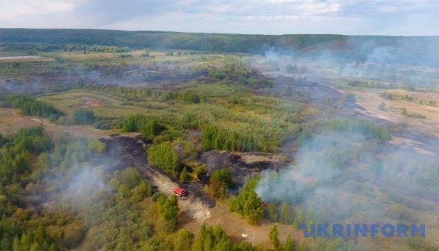 В Черкасской области потушили 40 гектаров торфяников