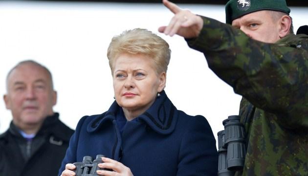 """Российские """"Искандеры"""" угрожают половине европейских столиц - Грибаускайте"""