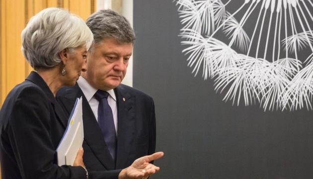 Poroschenko trifft auf IWF-Chefin Lagarde in Davos