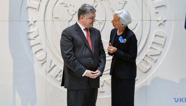 IMF Head Lagarde intends to meet with Poroshenko in Davos