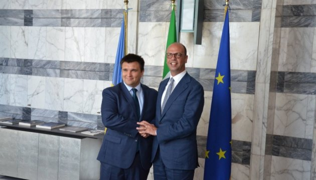 Klimkin invites his Italian colleague to visit Donbas before Italy's chairmanship of OSCE in 2018