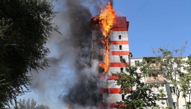 В Ростове-на-Дону сгорел 10-этажный отель, есть погибшие