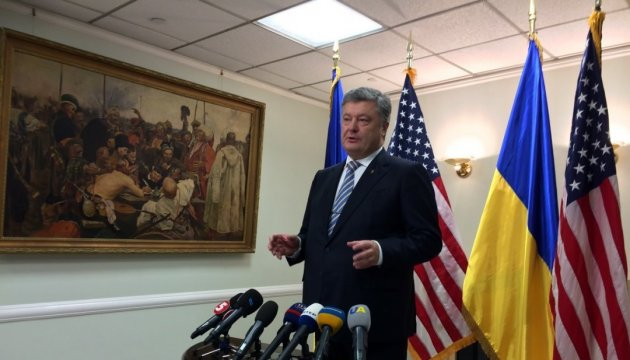 Poroshenko: U.S. fully supports Ukraine's proposal on UN peacekeepers