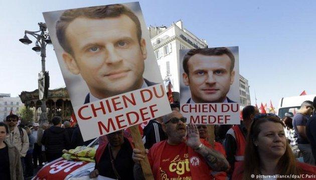 В 170 городах Франции проходят протесты против реформ президента
