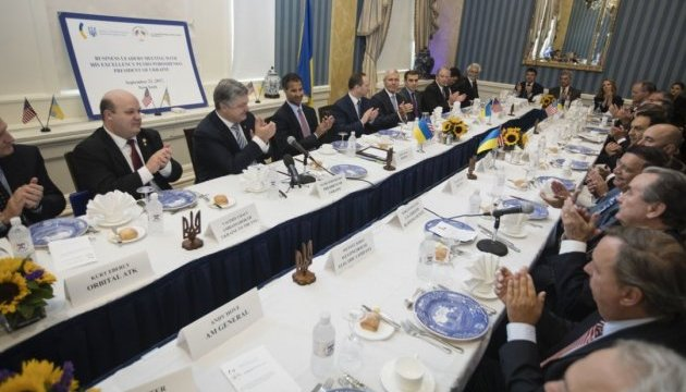Poroshenko meets with U.S. business representatives