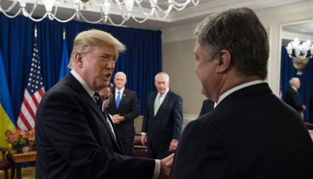 Trump calls on Poroshenko to continue fighting corruption