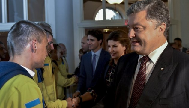 Poroshenko, Trudeau greet Ukraine's Invictus Games team. Photos