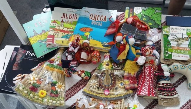 Ukrainian stall presented at Red Cross International Charity Bazaar in Singapore. Photos