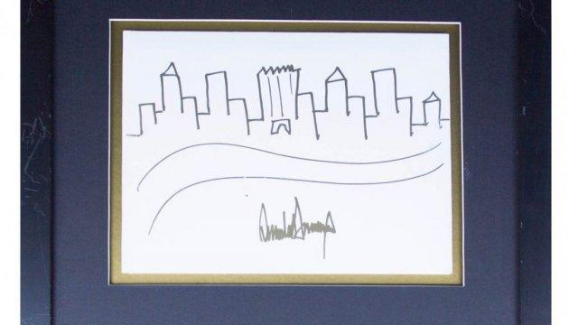 На аукціоні продадуть малюнок Трампа