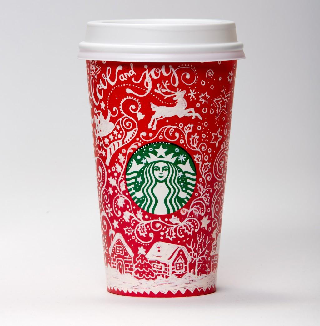Українка Анна Буччіареллі (Шинлова) створила новорічний дизайн для чашок Starbucks з елементами петриківського розпису