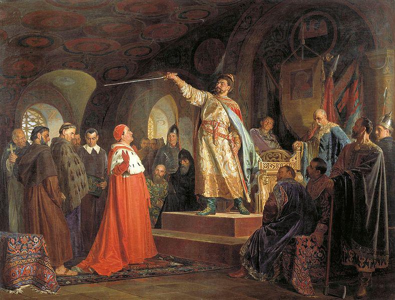 Роман Мстиславович приймає делегацію з Риму