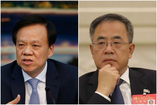 Чэнь Миньер (слева) и Ху Чуньхуа (справа) Фото: EPA-EFE