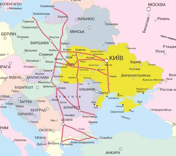 """Ось як виглядатиме транспортний коридор """"Карпатський шлях"""", що проходитиме через територію України"""