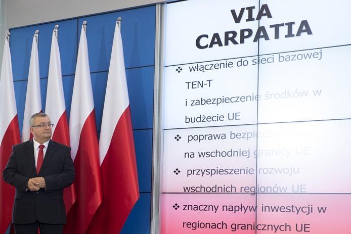На фото: Анджей Адамчик, міністр інфраструктури та будівництва Польщі