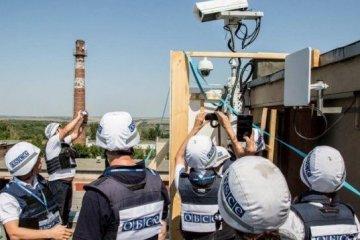 Luhansker Terroristen stören Überwachungskamera der OSZE-Beobachtermission mit Laser
