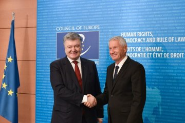 Poroshenko asks Jagland to use all mechanisms of pressure on Moscow