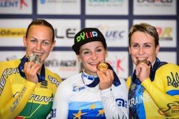 La ucraniana Basova gana el bronce en el Campeonato Europeo de Ciclismo en Pista