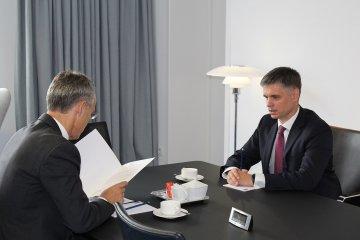 Wadim Prystajko, Leiter der Mission der Ukraine bei Nato