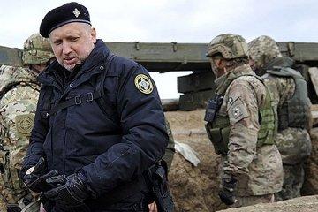Turchýnov inaugura el puente restaurado sobre el río Donets