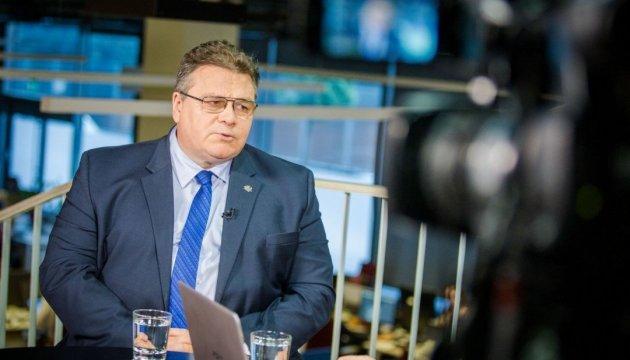 Лінкявічюс запевнив у подальшій підтримці України з боку Литви
